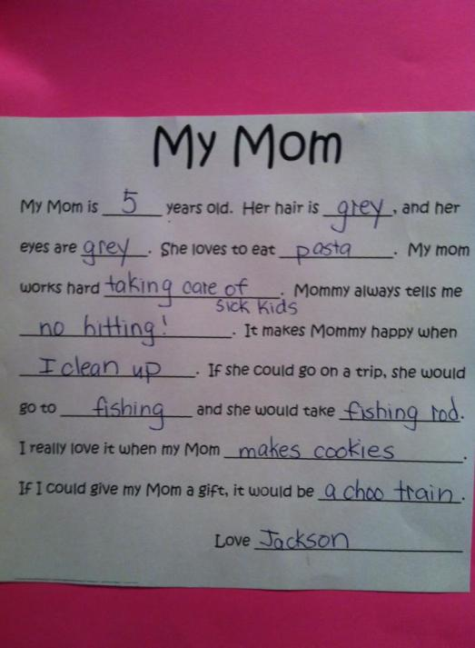 My mom is...