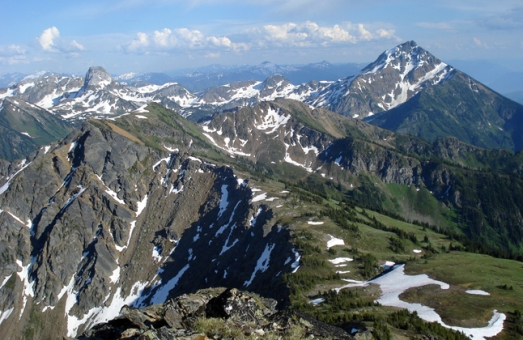 A shot of Ghost Peak with Mount Cartier's summit on the right.