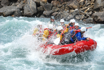 White-water rafting is just one of the many outdoor activities around Revelstoke. Photo provided by Tourism Revelstoke.